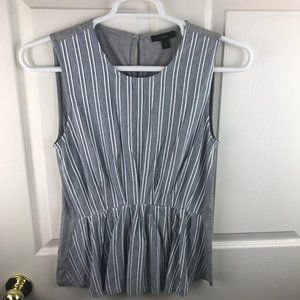 NWT J.Crew Cinched Striped Tank Top Blue White
